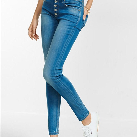 444d4a63953 Express Jeans | Vintage Button Fly Jean Legging 8r | Poshmark